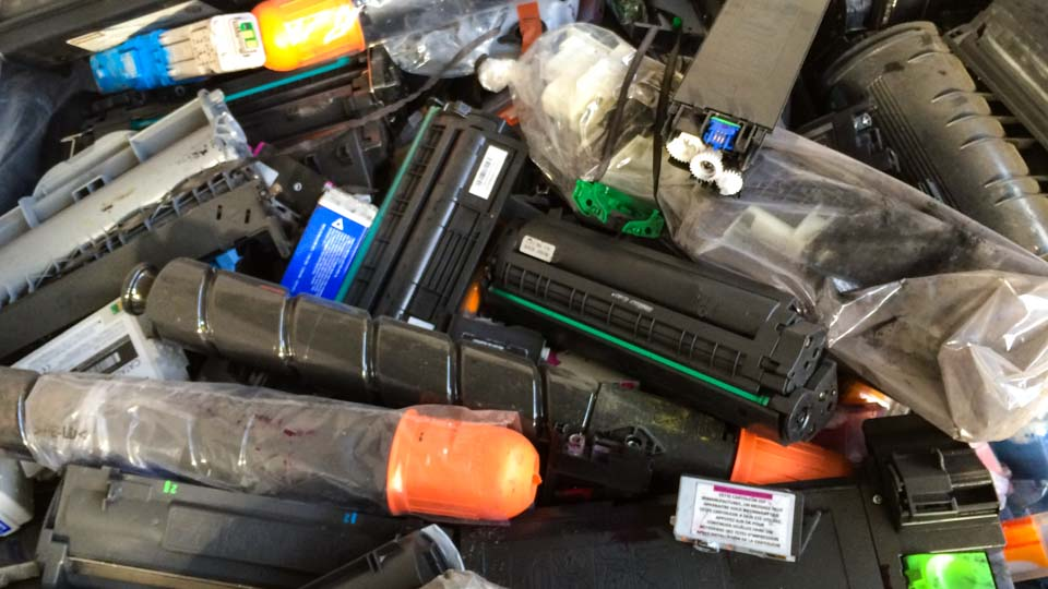 Clasificación de residuos de cartuchos