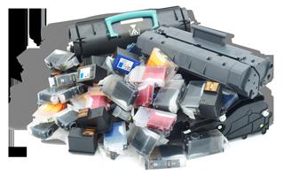 Cartuchos usados para reciclar, FBO ORGANISATION.